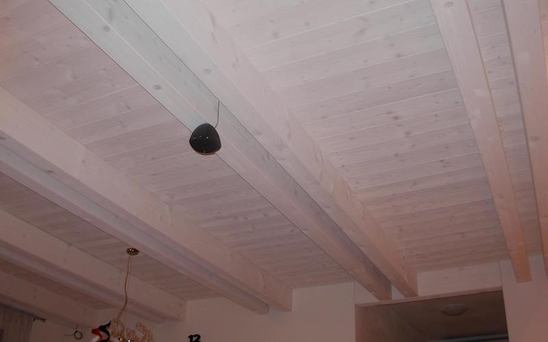 CANTIERE CAMISANO (VI) 2005 Controsoffitto in legno bilama di abete sbiancato